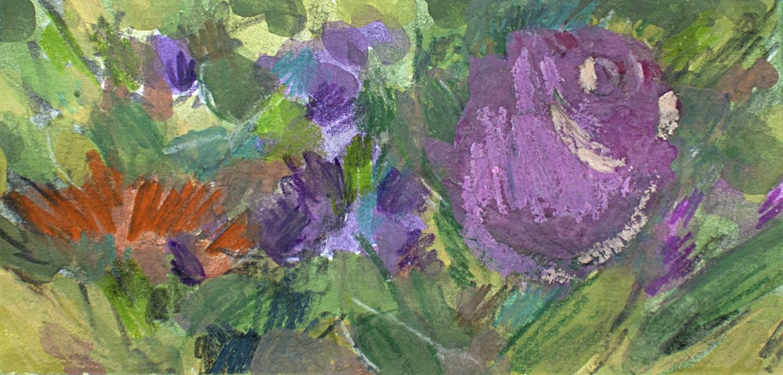 Sketchbook: Flowers at Kroger