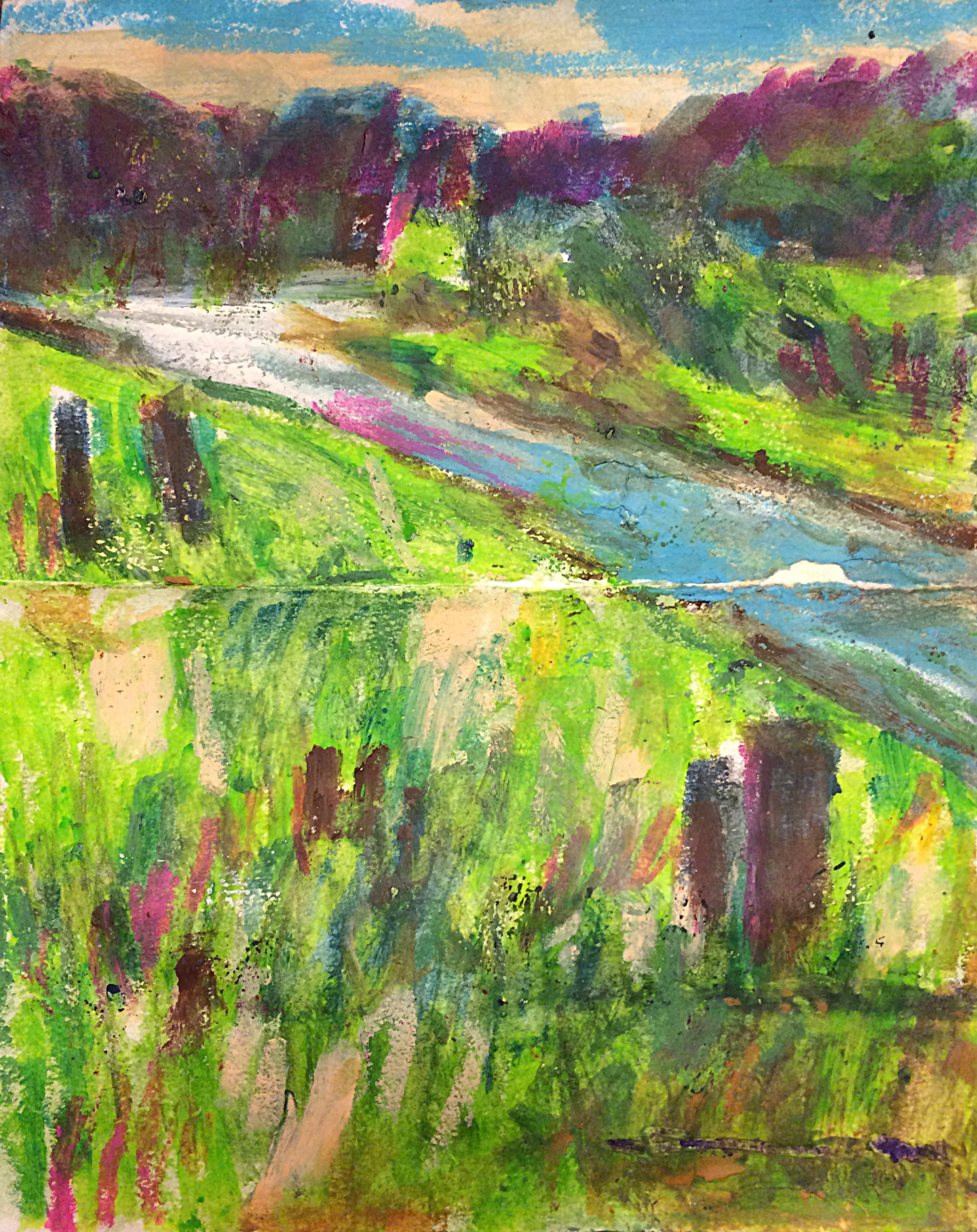 Sketchbook: Color Study at Shelby Farms